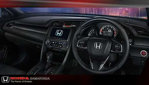 Desain dashboard Honda Civic Hatchback Turbo